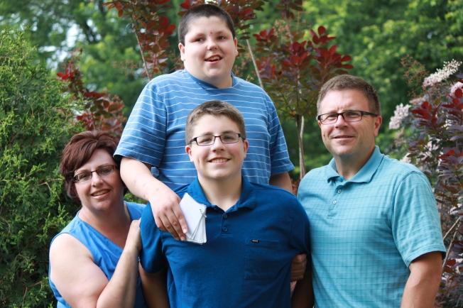 Heidi, Ernie Jr., Andrew, and Ernie Sr.